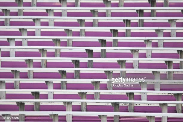 Empty Spectator seating in an outdoor sports stadium
