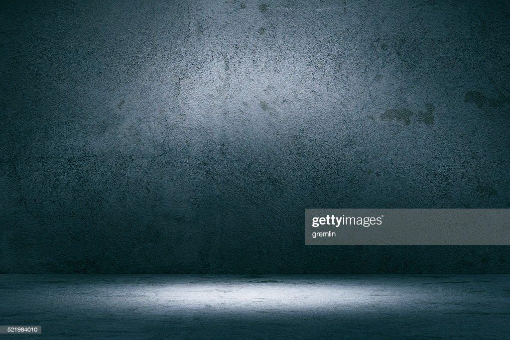 Empty spotlit concrete background : Stock Photo
