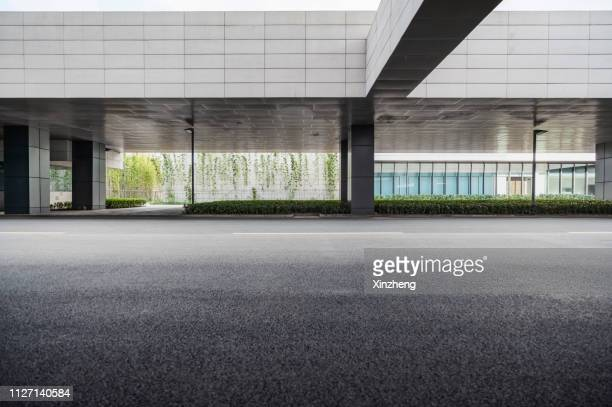 empty square front of modern architectures - empty road stock pictures, royalty-free photos & images