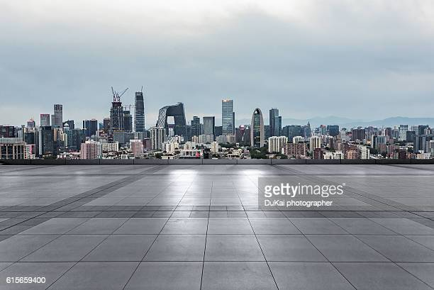 Empty square in beijing
