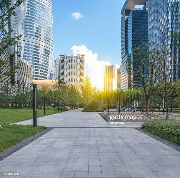 empty square of modern architecture