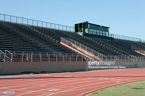 Empty stadium and running track