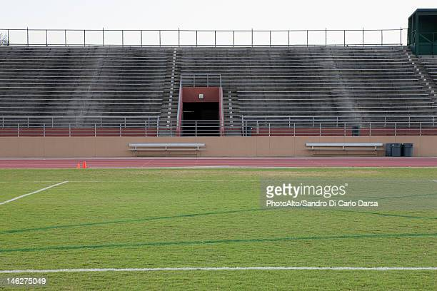 Empty stadium and track