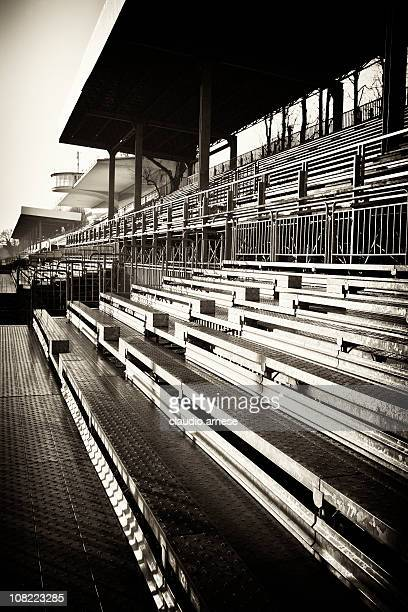 empty stadium bleachers, sepia tone - monza stock pictures, royalty-free photos & images