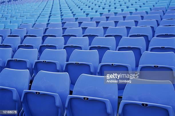 Empty stadium seating, full frame