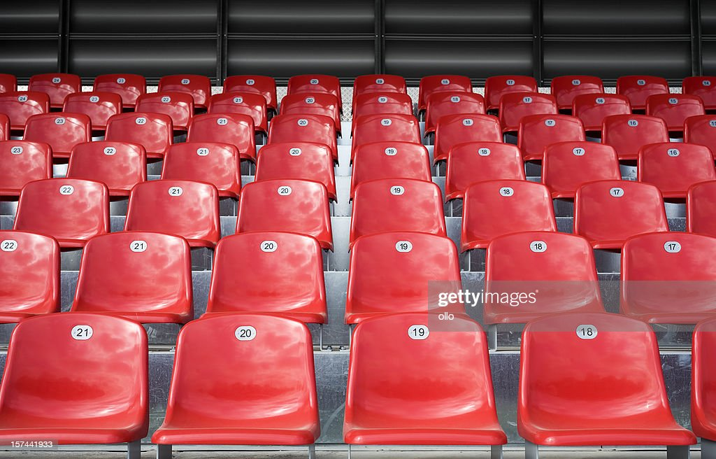 Empty stadium seats : Stock Photo