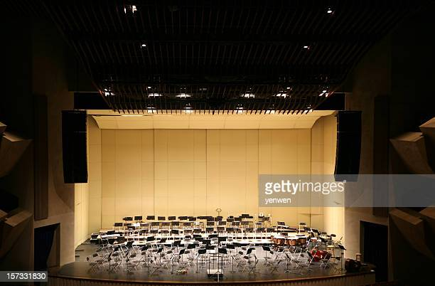 empty stage in concert hall - music halls stock pictures, royalty-free photos & images