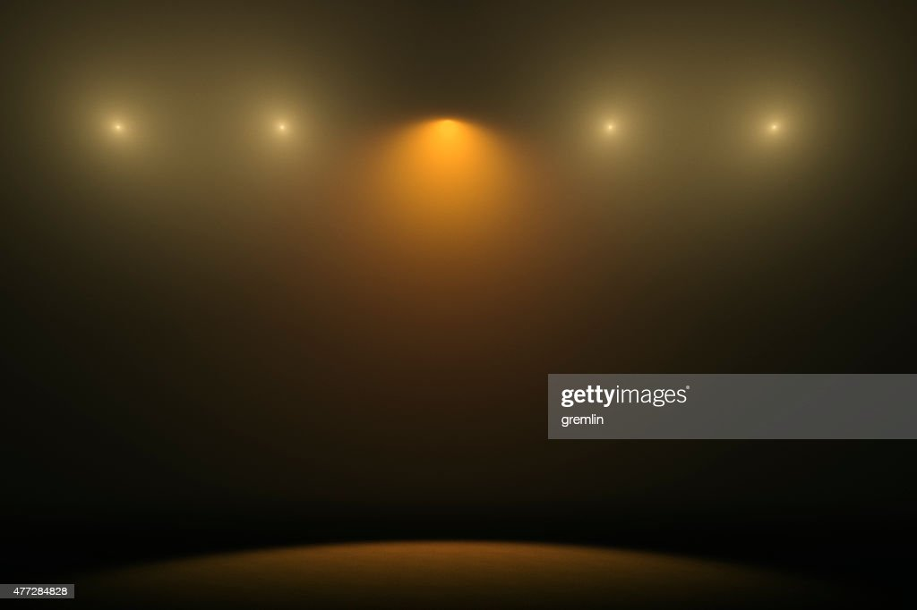Empty stage with spotlights : Stock Photo