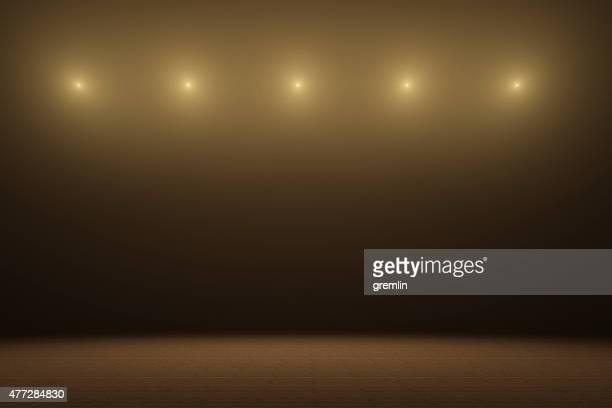 vazio com holofotes de palco - luz de palco - fotografias e filmes do acervo