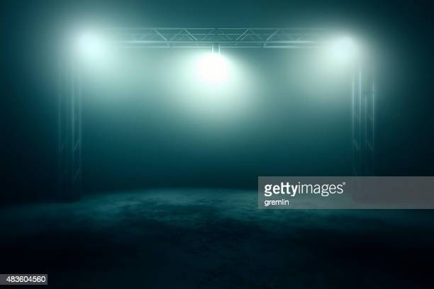 empty stage with spotlights - stage light stock pictures, royalty-free photos & images