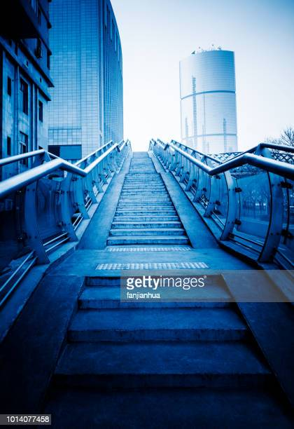 empty staircases in city