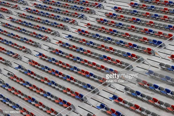Empty stands during the NASCAR Gander Outdoors Truck Series Vet Tix Camping World 200 at Atlanta Motor Speedway on June 06, 2020 in Hampton, Georgia.