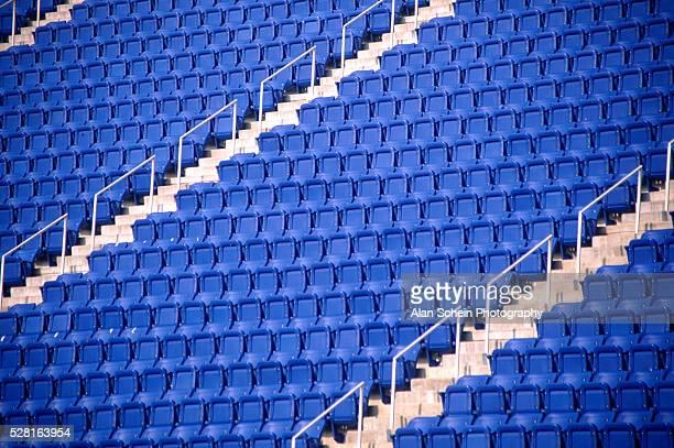 Empty stands in U.S. Open Stadium