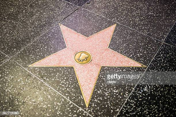 empty star shape at the walk of fame - boulevard stock pictures, royalty-free photos & images