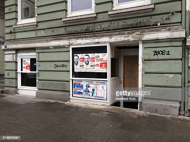 Empty storefront Hamburg Germany Sept 2014