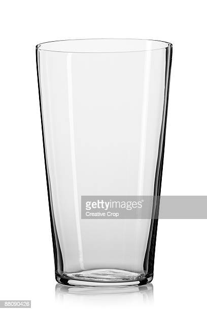 Empty straight lager / beer glass