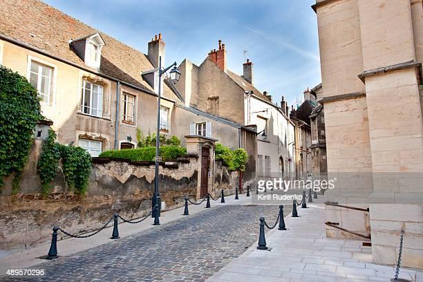 Empty Street in Beaune, France