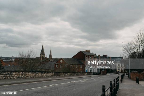 empty street, lincoln - stay at home order stock pictures, royalty-free photos & images