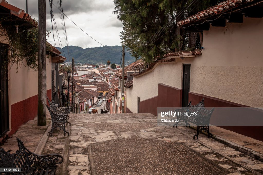 Empty street of San Cristobal de las Casas : Stock-Foto