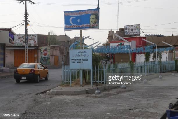 Empty streets are seen during Iraqi Kurdish Regional Government controversial referendum in alMusalla neighbourhood in Kirkuk Iraq on September 25...