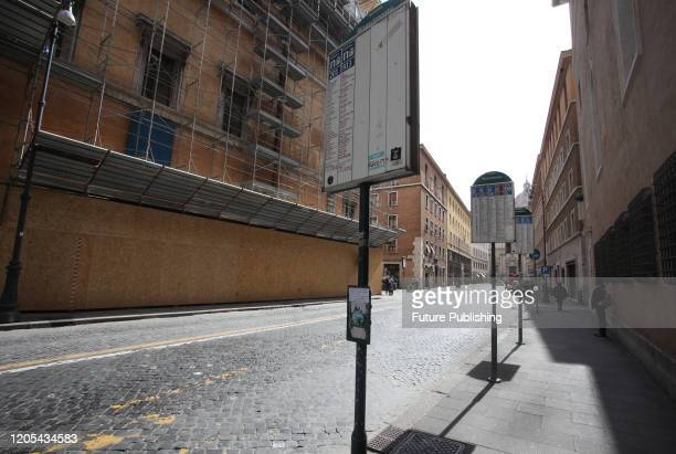 Empty streets in Rome for the Coronavirus emergency PHOTOGRAPH BY Marco Ravagli / Barcroft Studios / Future Publishing