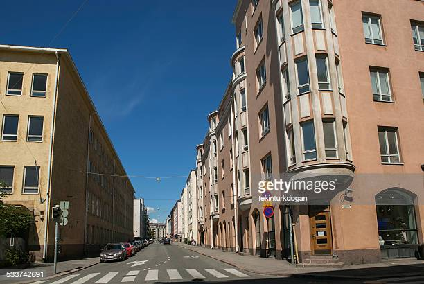 empty streets with old buildings at helsinki finland