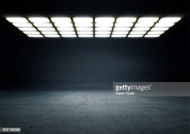 Empty Studio Background lighting