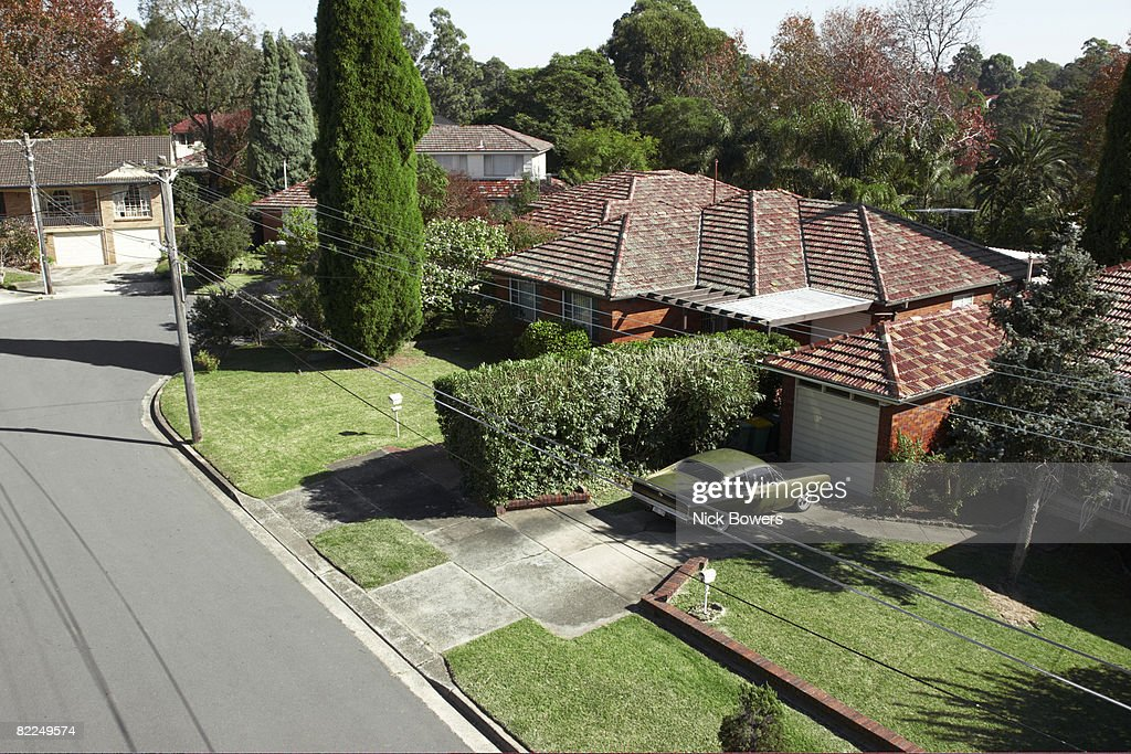 Empty suburban landscape : Stock Photo