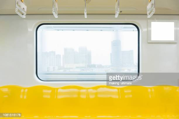 empty subway train - vehicle interior stock pictures, royalty-free photos & images