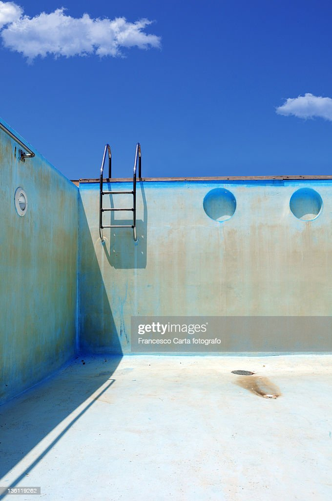 Empty swimming pool. : Stock Photo