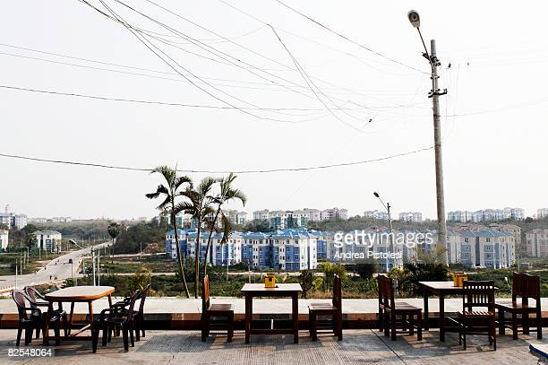 empty tables - naypyidaw stock pictures, royalty-free photos & images