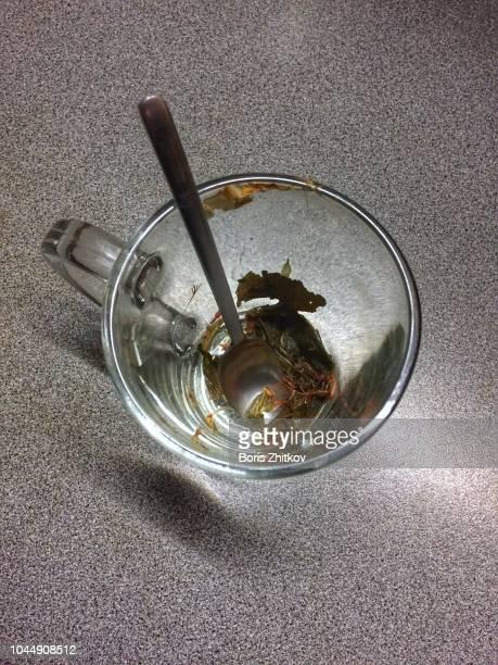 Empty tea cup.