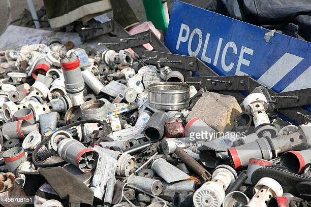 empty tear gas - bahrain national day stock photos and pictures