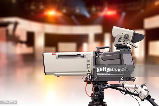 Vide avec caméra de studio de télévision