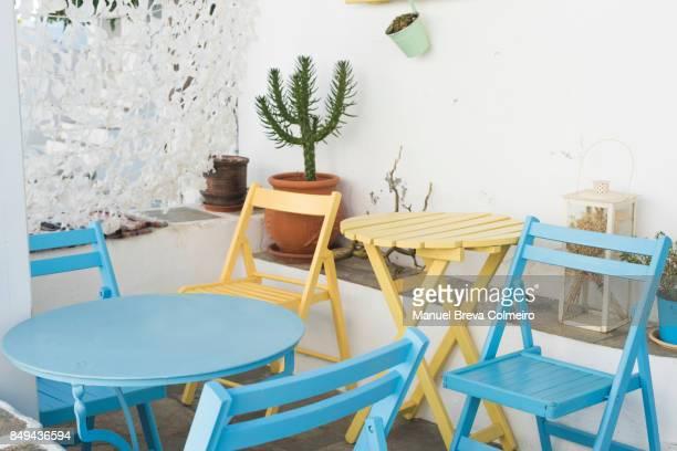 Empty terrace