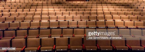 Empty theater chairs in Ventura Arts College Theater.