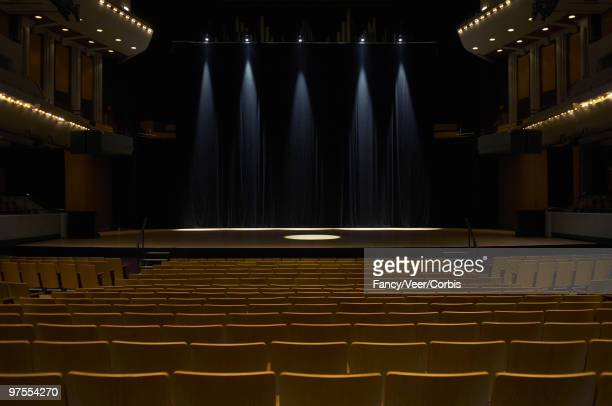 empty theater - stage performance space stock pictures, royalty-free photos & images