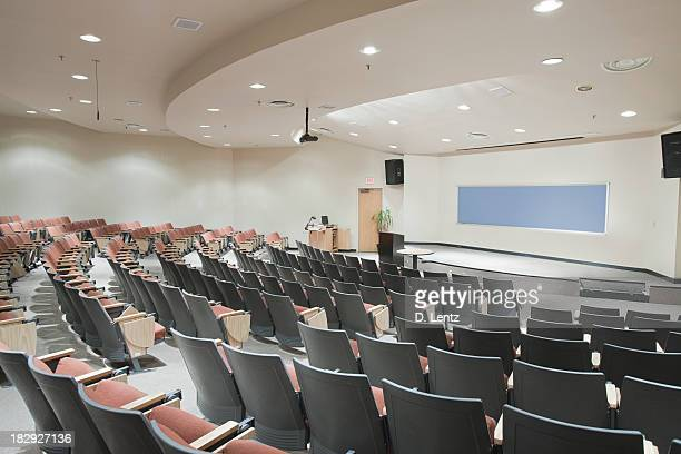 Empty theater-seat college lecture hall