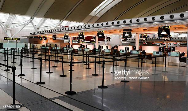 Empty ticket counter at Pearson airport April 30 2014 Liberals are expected to hike aviation fuel taxes from 27 cents per litre by as much as 4 cents...