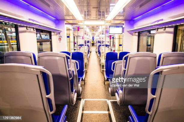 Empty train at Zwolle train station after the forced Coronavirus lockdown on December 15, 2020 in Zwolle, Netherlands. From December 15 the...