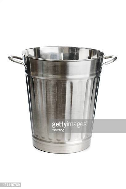 empty trash can - garbage can stock pictures, royalty-free photos & images