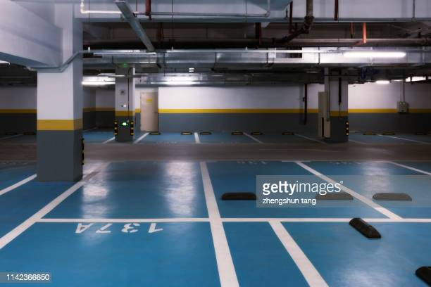empty underground parking lot - building story stock pictures, royalty-free photos & images