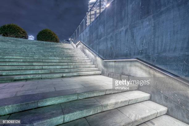 empty urban stairs