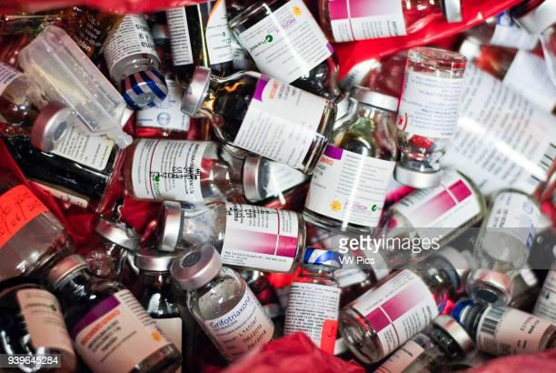 Empty vials of medicines Pediatric Hospital Guayaquil Ecuador