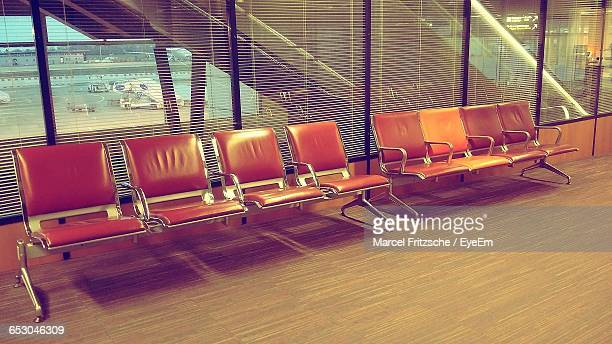 Empty Vintage Seats At Airport