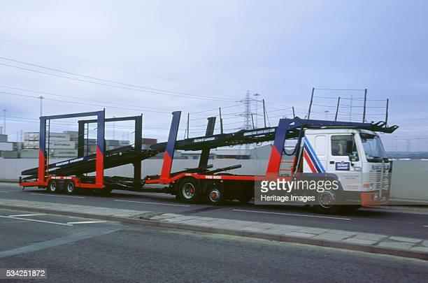 Empty volvo car transporter Southampton Docks 2000