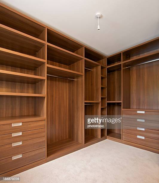 empty walk in wardrobe