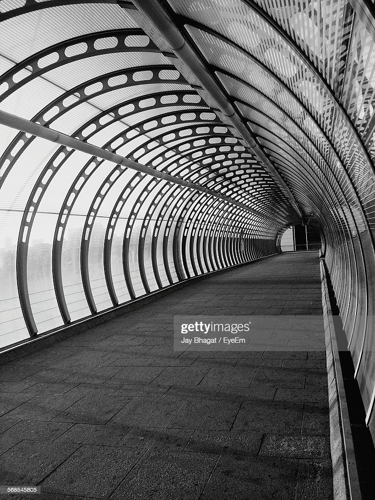 Empty Walkway Covered With Arch : Stock Photo