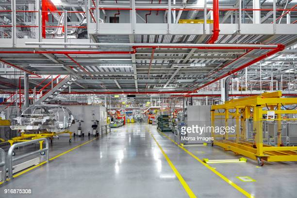 empty walkway of automobile industry - plant stock pictures, royalty-free photos & images