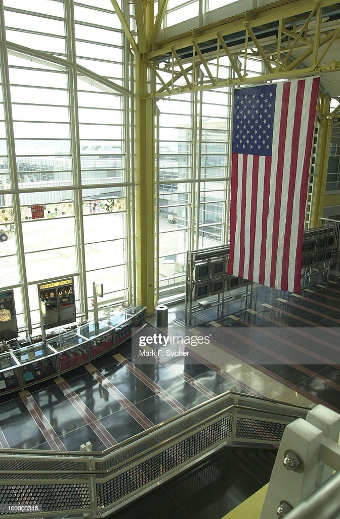Empty walkways in Regan National Airport on Tuesday, September 17, 2001.